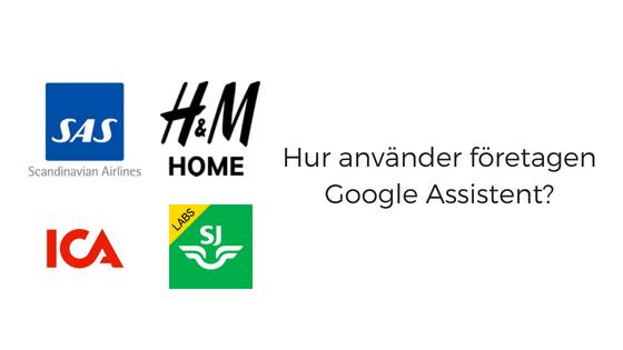 Hur använder Sveriges företag Google Assistent